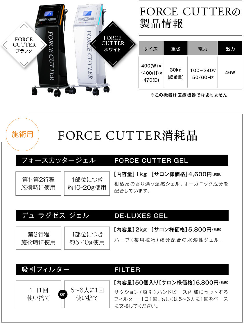 FORCE CUTTER ○○○ ブラック FORCE CUTTER ○○○ ホワイト